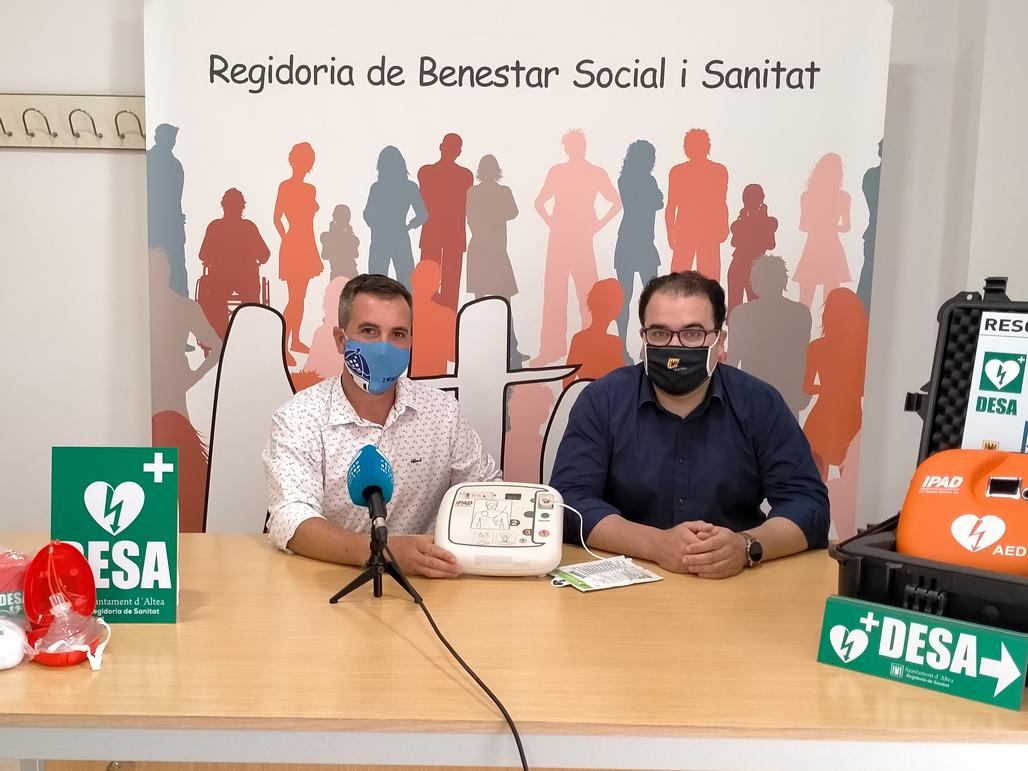 Sanidad instala tres nuevos puntos DESA en instalaciones municipales