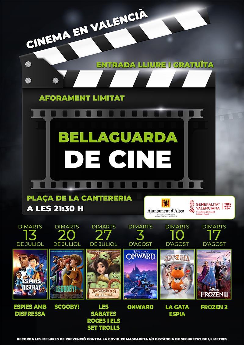 """Demà dimarts 3 de juliol, Bellaguarda de Cine projectarà """"Onward"""" a la Plaça de la Cantereria a partir de les 21:30h."""