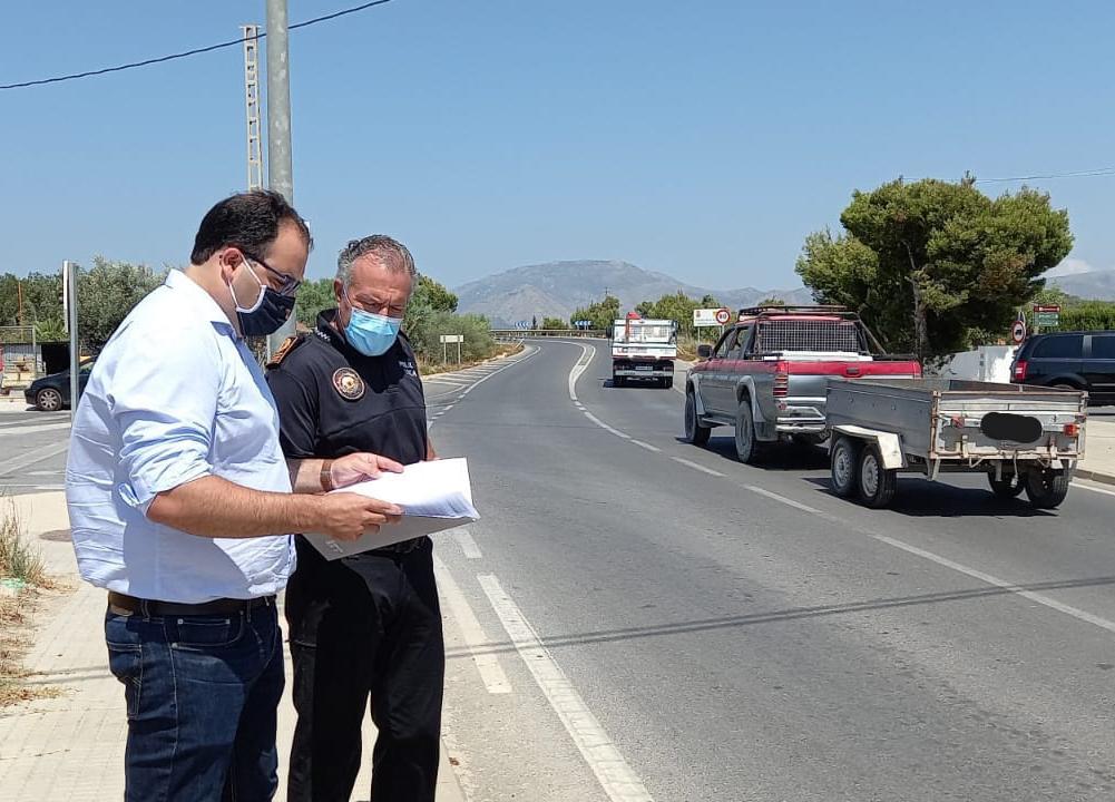 Tráfico valora la situación de la carretera CV-760 a partir de unos informes de la Policía Local