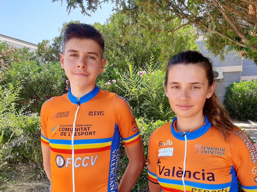 Els germans Guardeño porten Altea al Campionat d'Espanya Escolars de ciclisme amb la selecció valenciana
