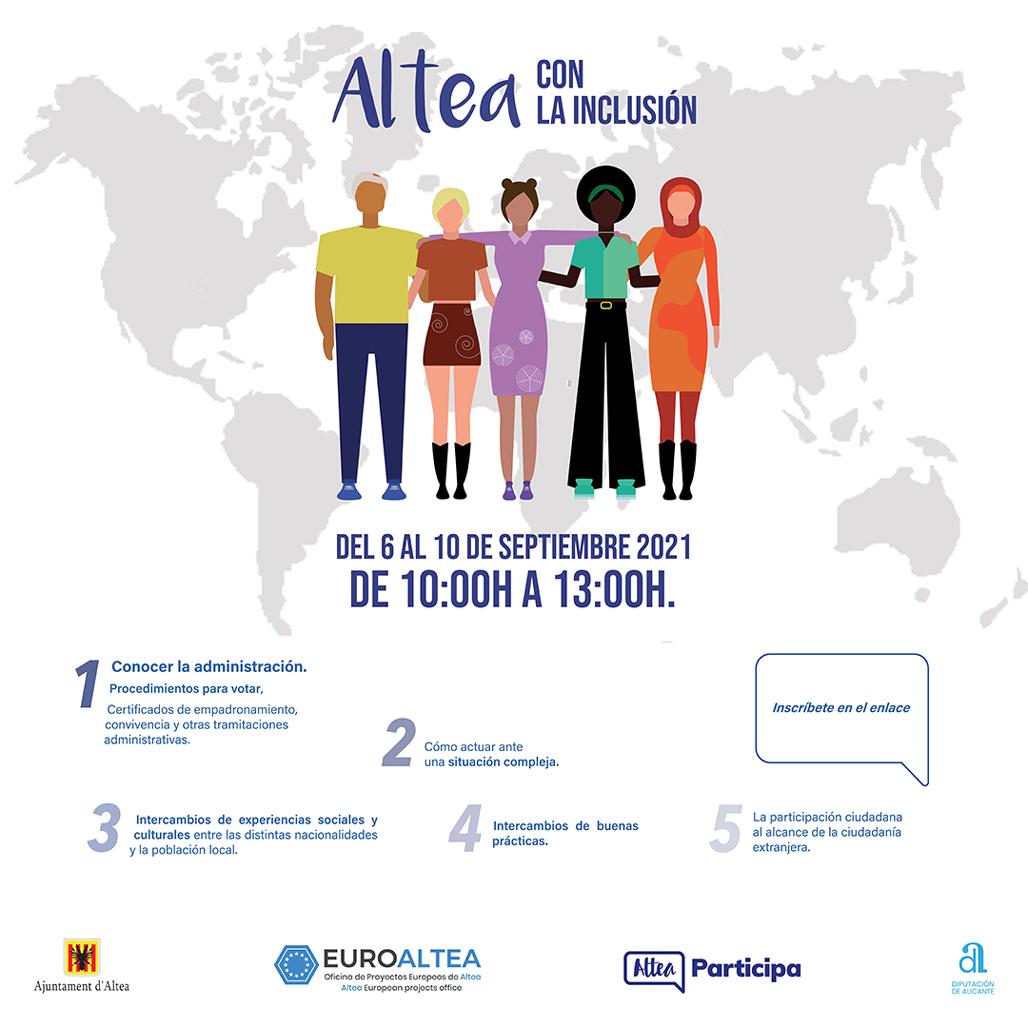 """Participació Ciutadana i EuroAltea organitzen els tallers """"Altea amb la inclusió"""""""