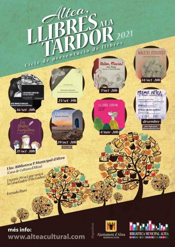 Las presentaciones de libros llenan la programación cultural durante el otoño. Consulta toda la la información sobre el ciclo en www.alteacultural.com