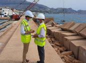Conselleria i Ajuntament supervisen les obres de reforç del dic del Port d'Altea