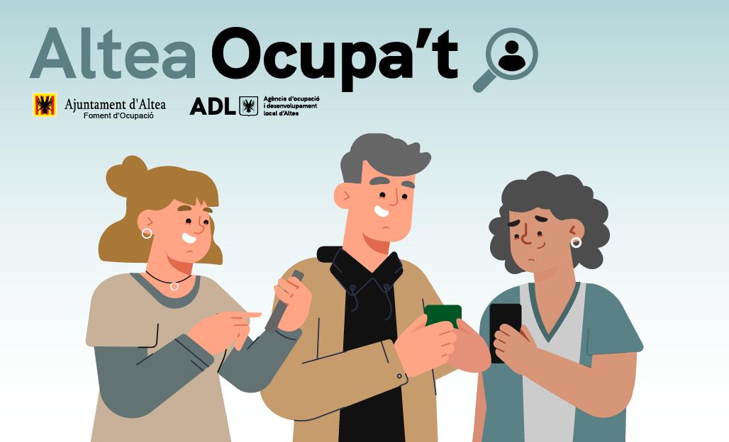 Ja està disponible Altea Ocupa't, l'app d'Ocupació d'Altea