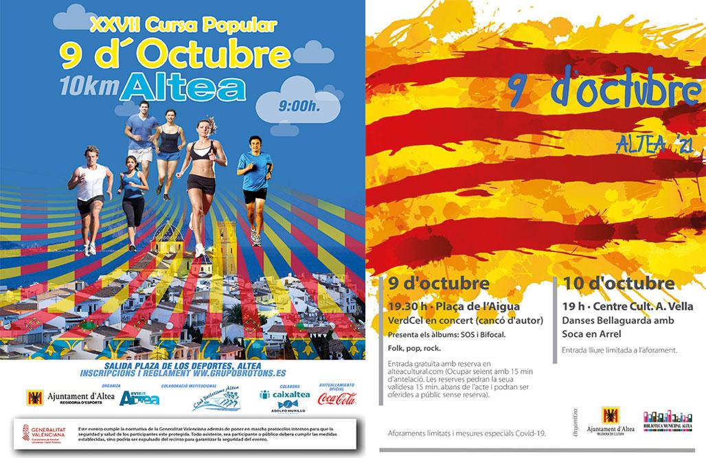 Celebra a Altea el 9 d'octubre, Dia de la Comunitat Valenciana